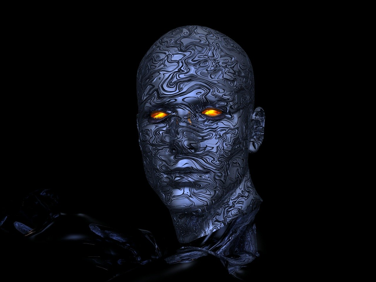 Cyborg Robot Head Futuristic  - Stevebidmead / Pixabay